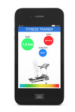 Mobile Phone with Fitness Tracker Application poster