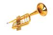 Leinwandbild Motiv Polished Brass Trumpet