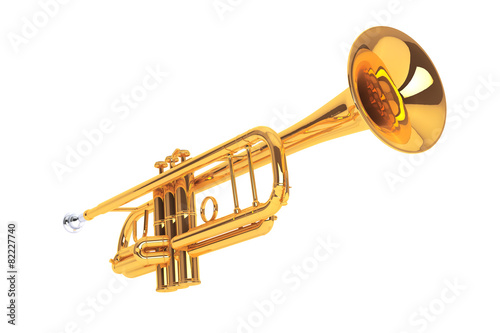 Polished Brass Trumpet - 82227740