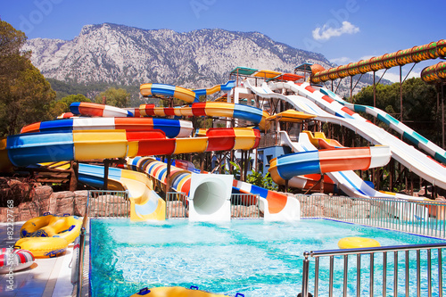 Aquapark sliders with Mountain - 82227768