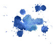 Abstract watercolor aquarelle hand drawn colorful blue art paint - 82227996