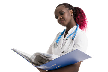 Doctor holding medical records