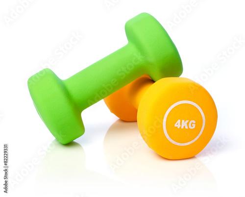 Staande foto Fitness Dumbells