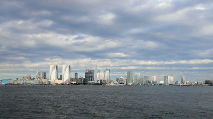 View of skyscrapers in tokyo bay area