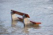 Leinwandbild Motiv Flooded bench