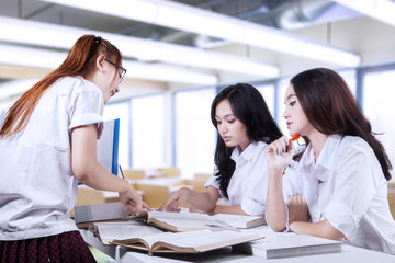 Group of high school students in class