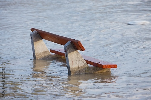 Foto op Canvas Oost Europa Flooded bench