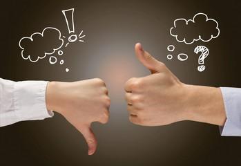 Thumbs Up. Disagreement