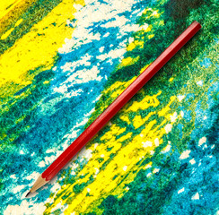 Long red pencil
