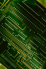 Computer board closeup