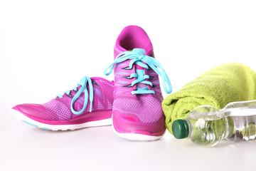Laufschuhe und Utensilien