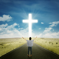 Man worshiping to the GOD