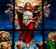 Leinwanddruck Bild - Ascension of Christ - Stained Glass