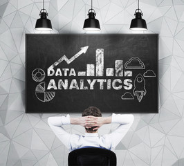 blackboard with analytics solutions.