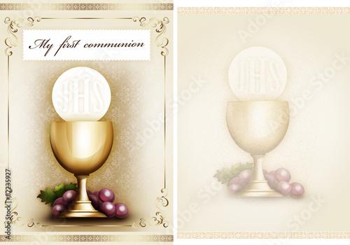 Leinwandbild Motiv My first communion 2