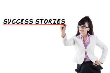 Success stories of businesswoman