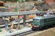 Leinwandbild Motiv Miniatur Eisenbahn elektrische Lokomotive H0