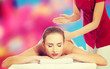 Woman during massage