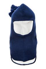Child One Hole Ski Mask, winter hat helmet isolated on a white b
