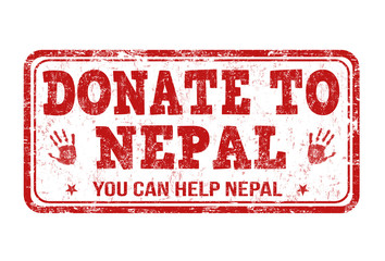 Donate to Nepal stamp