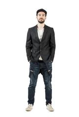Confident stylish man posing at camera