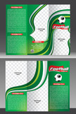 tri fold football tournament brochure template