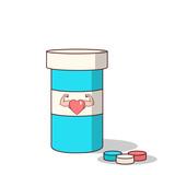 Isolated cartoon viagra drugs for making love stronger poster