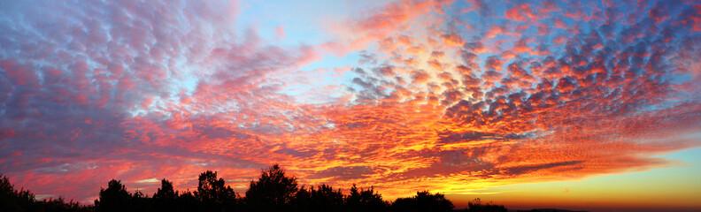Sonnenuntergang panorama