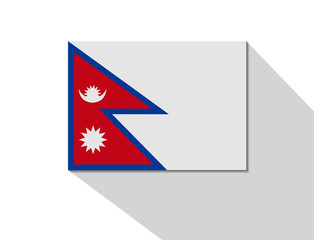 nepal long shadow flag