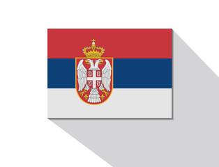 serbia long shadow flag