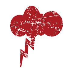 Red grunge storm logo
