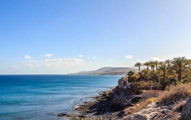 Cliff line Fuerteventura