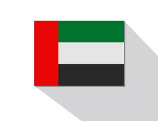 united arab emirates long shadow flag