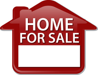 Home for sale sign Illustration clipart