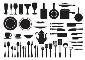 Kitchen Equipment Silhouette Bundle