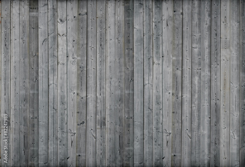 canvas print picture Gray wood wall. 3d render