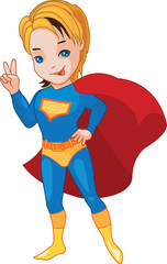 Super Boy vector illustration