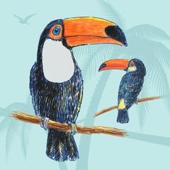 Toucan drawn marker