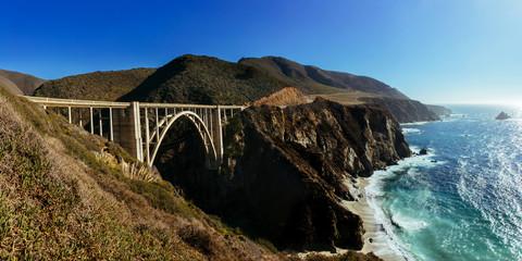 Bixby Creek Bridge, Pacific highway, California, USA.