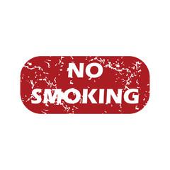 Red grunge no smoking logo