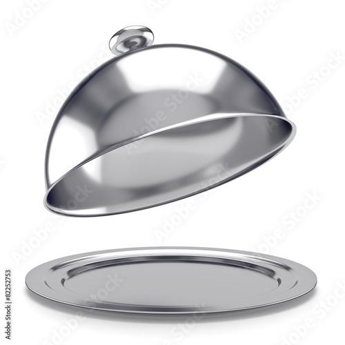 vassoio d'argento con coperchio inclinato - 82252753