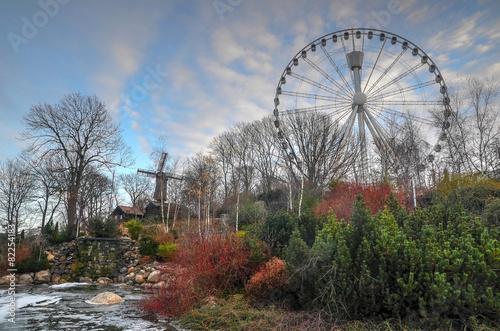 canvas print picture HDR Gothenburg Liseberg Theme Park Atmosfear