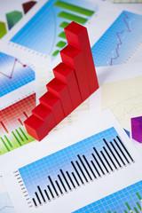 Finance concept, Percent, natural colorful tone