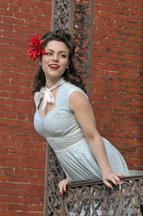 portrait of a beautiful pin up girl