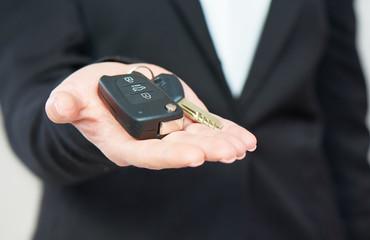 car keys in hand men businessman