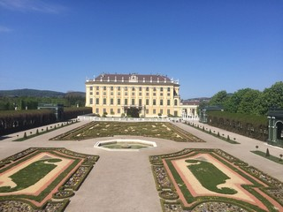 castle and garden of schoenbrunn
