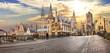 Leinwanddruck Bild - beutiful medieval Gent over sunset. Belgium