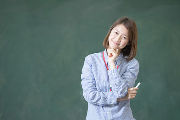 教師(黒板バック)