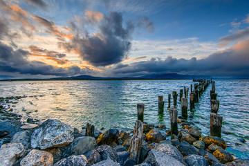 Le ponton de Puerto Natales