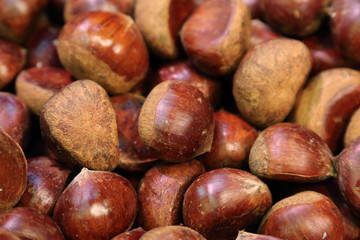 background of chestnuts